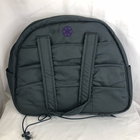 Gaiam Metro Gym Yoga Mat Bag Gray Purple Tote
